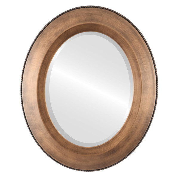 Beveled Mirror - Lombardia Oval Frame - Sunset Gold