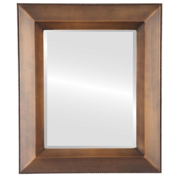 Beveled Mirror - Lombardia Rectangle Frame - Sunset Gold