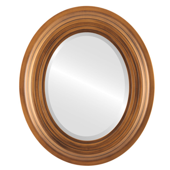 Beveled Mirror - Imperial Oval Frame - Sunset Gold
