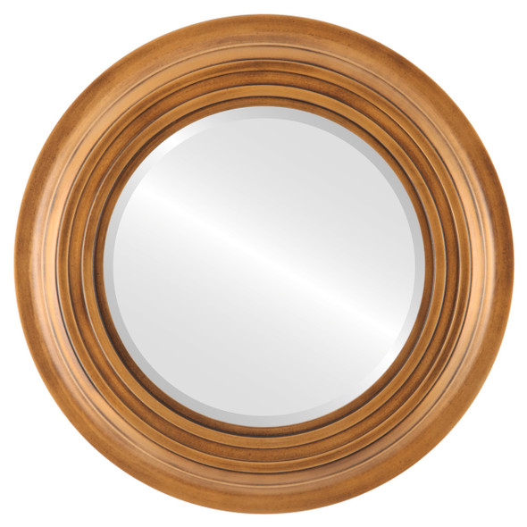 Beveled Mirror - Imperial Round Frame - Sunset Gold