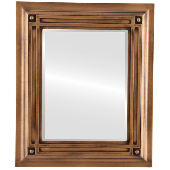 Beveled Mirror - Imperial Rectangle Frame - Sunset Gold
