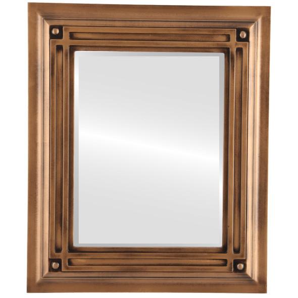 Beveled Mirror - Imperial Rectangle Frame - Sunset Gold