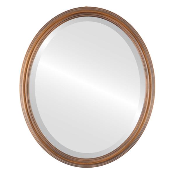 Beveled Mirror - Saratoga Oval Frame - Sunset Gold