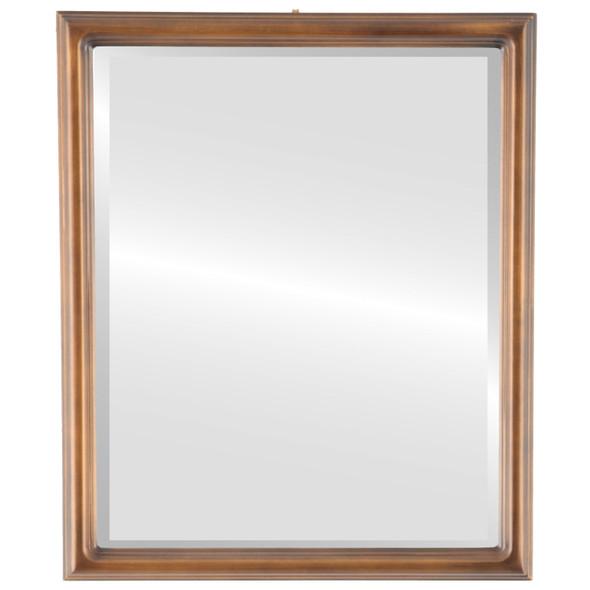 Beveled Mirror - Saratoga Rectangle Frame - Sunset Gold