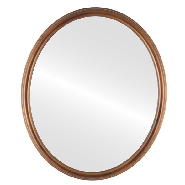 Flat Mirror - Hamilton Oval Frame - Sunset Gold with Silver Lip
