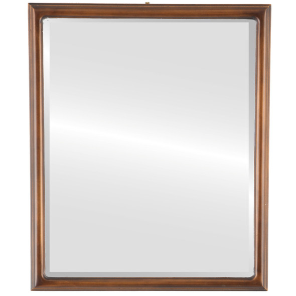 Beveled Mirror - Hamilton Rectangle Frame - Sunset Gold with Silver Lip