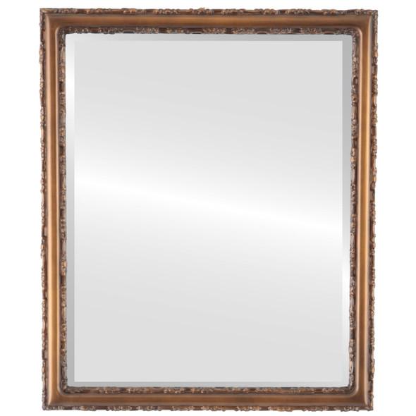 Beveled Mirror - Virginia Rectangle Frame - Sunset Gold