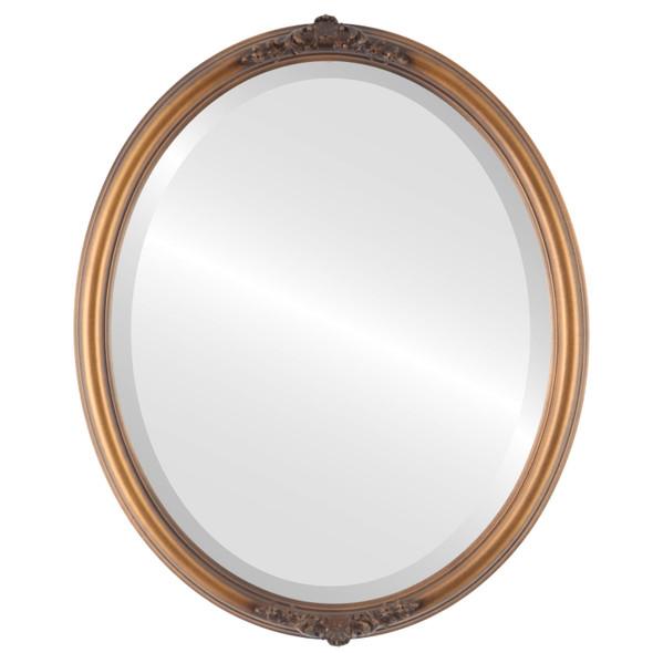 Beveled Mirror - Contessa Oval Frame - Sunset Gold
