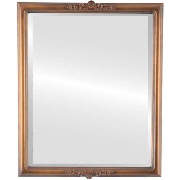 Beveled Mirror - Contessa Rectangle Frame - Sunset Gold