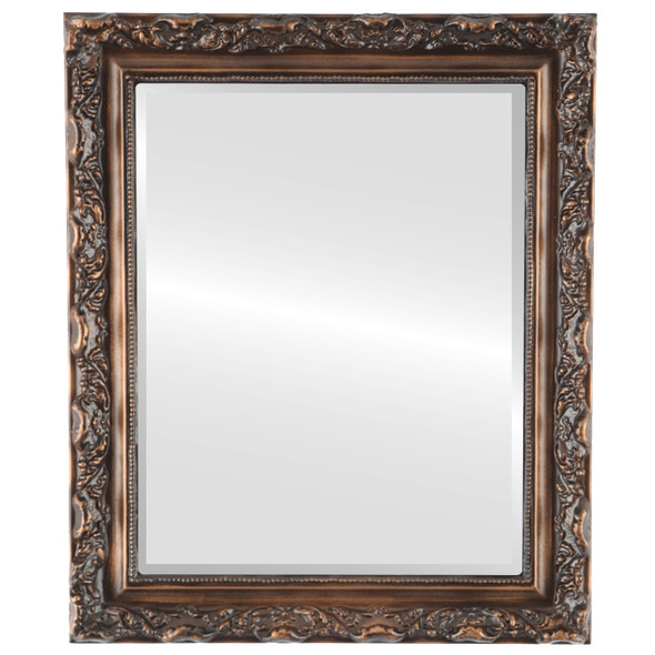 Beveled Mirror - Rome Rectangle Frame - Sunset Gold