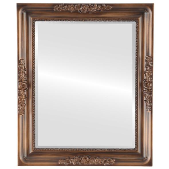 Beveled Mirror - Versailles Rectangle Frame - Sunset Gold