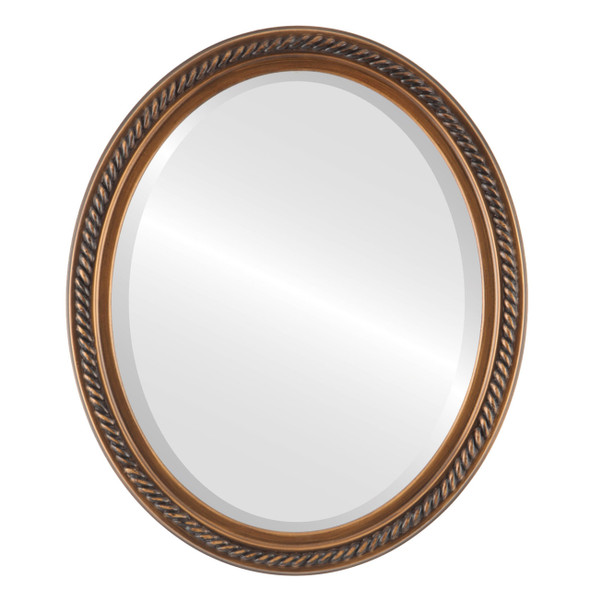 Beveled Mirror - Santa Fe Oval Frame - Sunset Gold