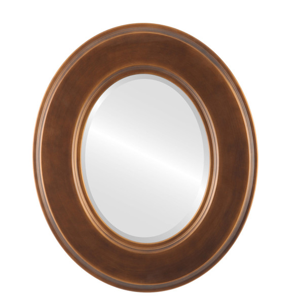 Beveled Mirror - Marquis Oval Frame - Sunset Gold