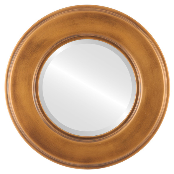 Beveled Mirror - Marquis Round Frame - Sunset Gold