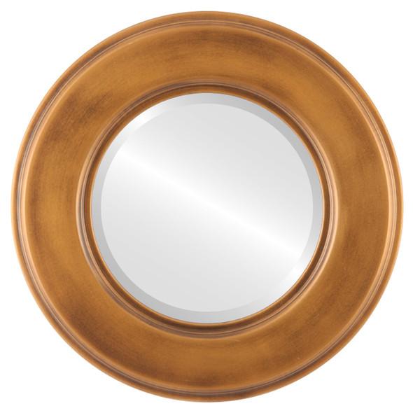 Beveled Mirror - Marquis Round Frame - Sunset Gold