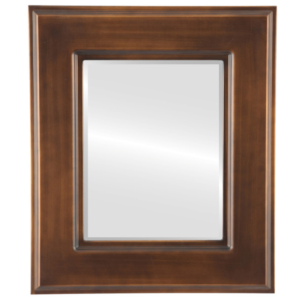 Beveled Mirror - Marquis Rectangle Frame - Sunset Gold