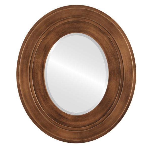 Beveled Mirror - Palomar Oval Frame - Sunset Gold
