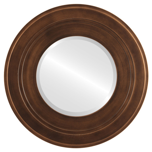 Beveled Mirror - Palomar Round Frame - Sunset Gold