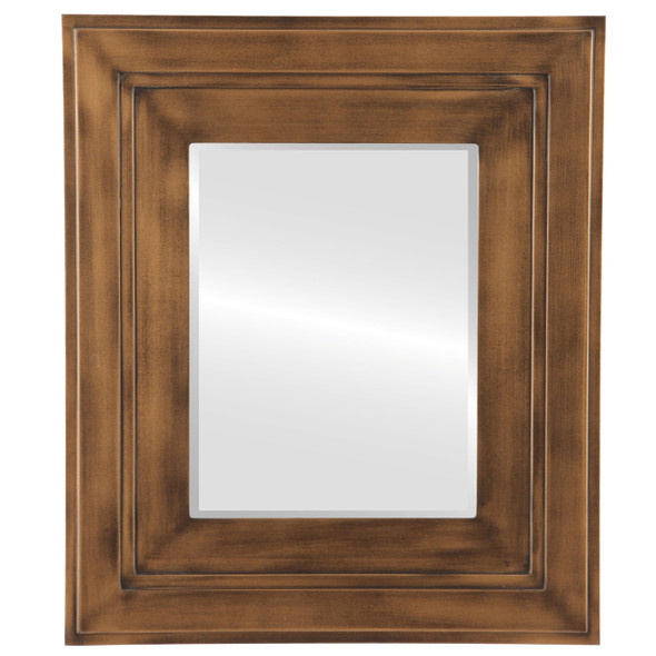 Beveled Mirror - Palomar Rectangle Frame - Sunset Gold