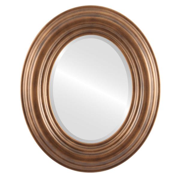 Beveled Mirror - Regalia Oval Frame - Sunset Gold