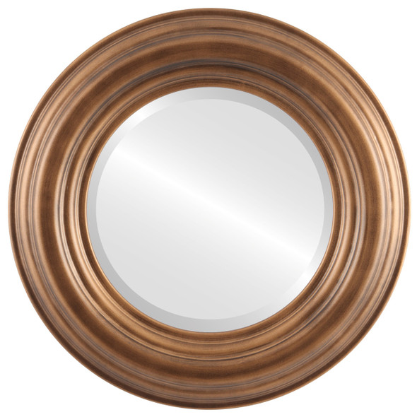 Beveled Mirror - Regalia Round Frame - Sunset Gold