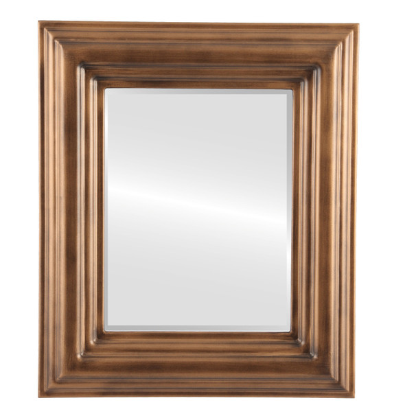 Beveled Mirror - Regalia Rectangle Frame - Sunset Gold
