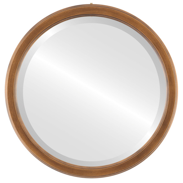 Beveled Mirror - Toronto Round Frame - Sunset Gold