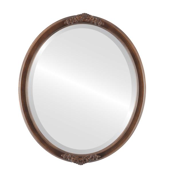 Beveled Mirror - Athena Oval Frame - Sunset Gold