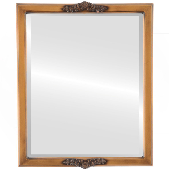 Beveled Mirror - Athena Rectangle Frame - Sunset Gold