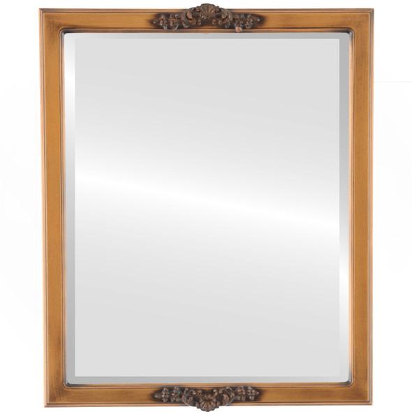 Beveled Mirror - Athena Rectangle Frame - Sunset Gold