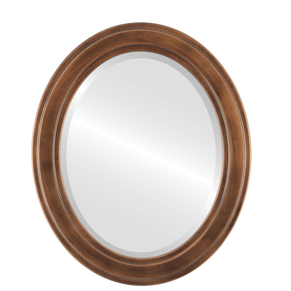 Beveled Mirror - Wright Oval Frame - Sunset Gold