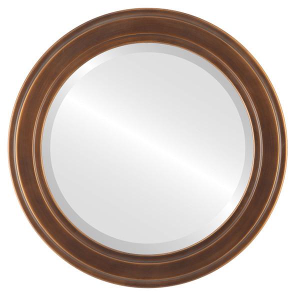 Beveled Mirror - Wright Round Frame - Sunset Gold