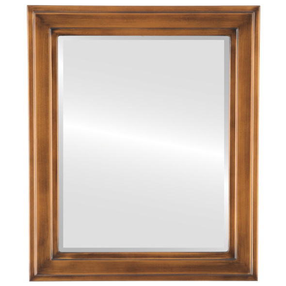 Beveled Mirror - Wright Rectangle Frame - Sunset Gold