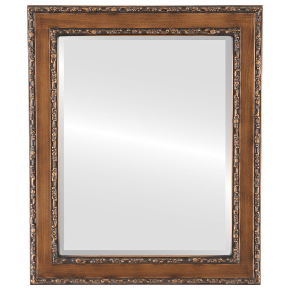 Beveled Mirror - Monticello Rectangle Frame - Sunset Gold