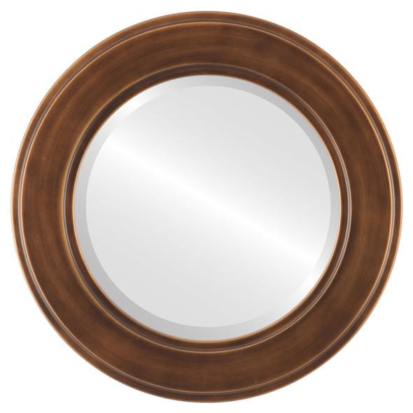 Beveled Mirror - Montreal Round Frame - Sunset Gold