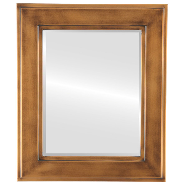 Beveled Mirror - Montreal Rectangle Frame - Sunset Gold