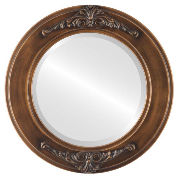 Beveled Mirror - Ramino Round Frame - Sunset Gold
