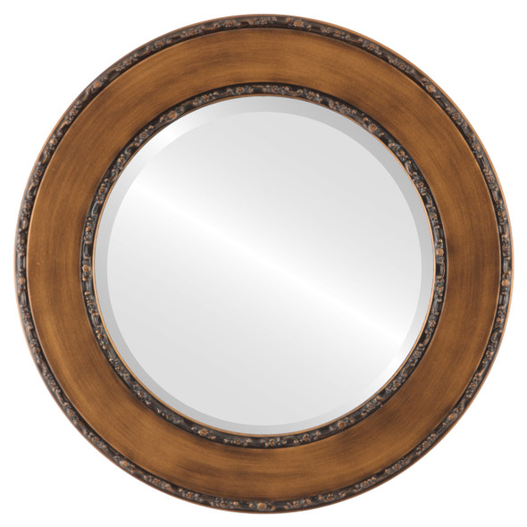 Beveled Mirror - Paris Round Frame - Sunset Gold