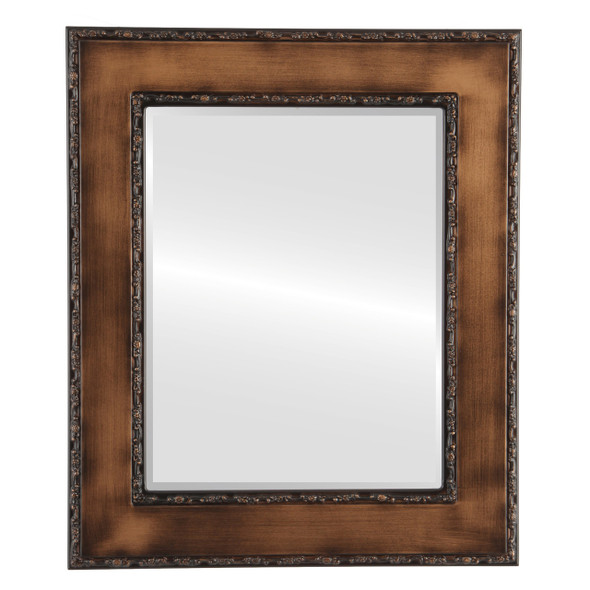 Beveled Mirror - Paris Rectangle Frame - Sunset Gold