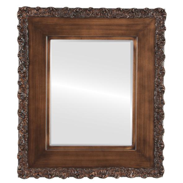 Beveled Mirror - Williamsburg Rectangle Frame - Sunset Gold