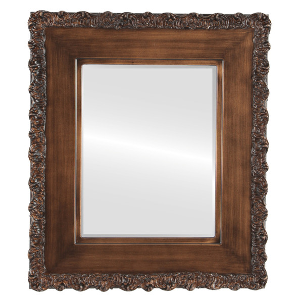 Beveled Mirror - Williamsburg Rectangle Frame - Sunset Gold