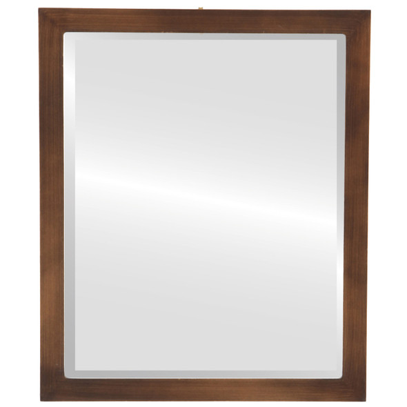 Beveled Mirror - Manhattan Rectangle Frame - Sunset Gold