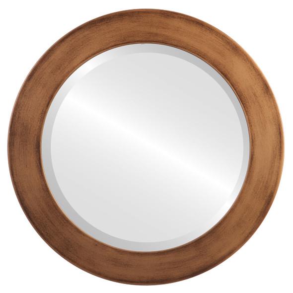 Beveled Mirror - Soho Round Frame - Sunset Gold