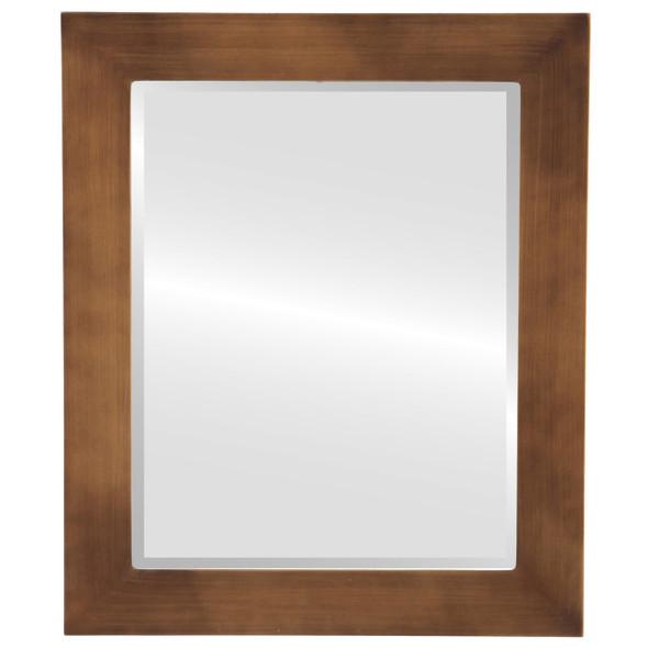 Beveled Mirror - Soho Rectangle Frame - Sunset Gold