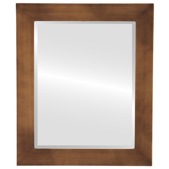 Beveled Mirror - Soho Rectangle Frame - Sunset Gold
