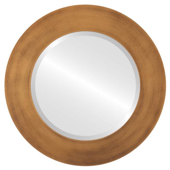 Beveled Mirror - Ashland Round Frame - Sunset Gold