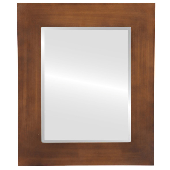 Beveled Mirror - Ashland Rectangle Frame - Sunset Gold