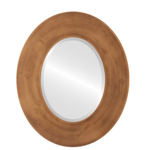 Beveled Mirror - Tribeca Oval Frame - Sunset Gold
