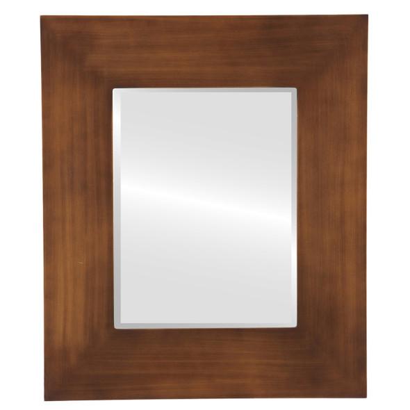 Beveled Mirror - Tribeca Rectangle Frame - Sunset Gold