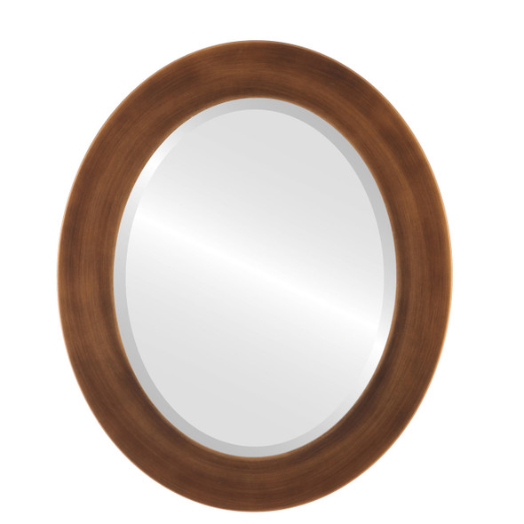Beveled Mirror - Avenue Oval Frame - Sunset Gold